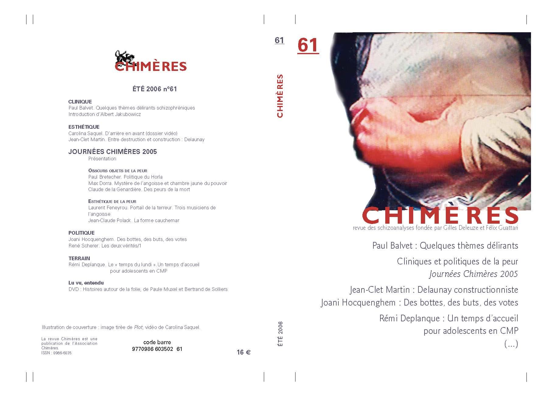 Revue Chimères